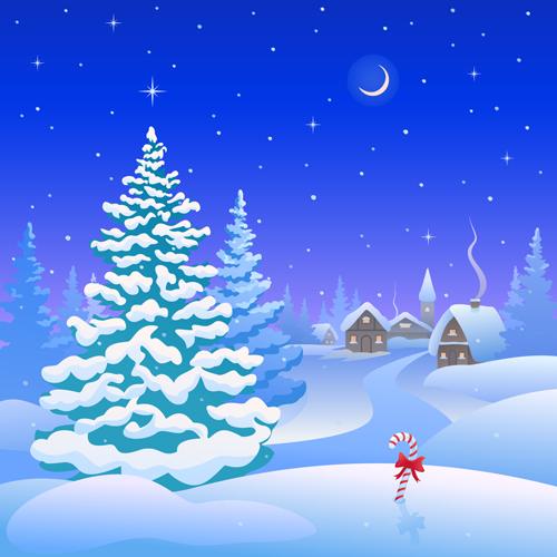 Snow Falling Wallpapers Free Download Winter Cartoon