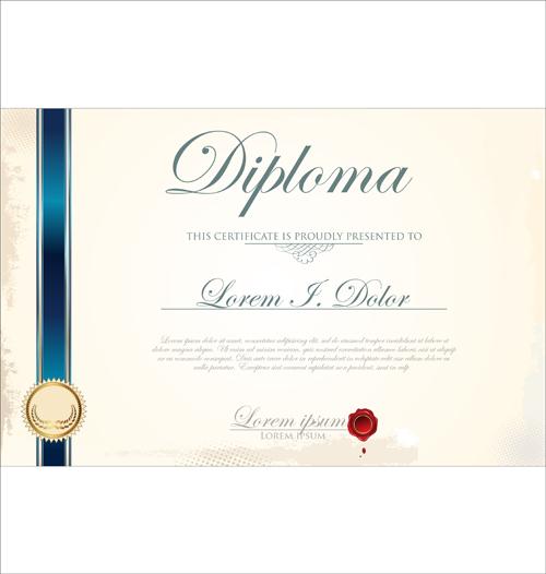 Best Certificate template design vector 01 free download