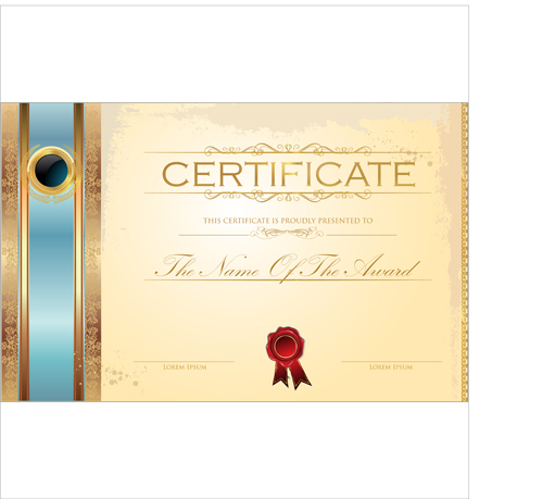 Best Certificate template design vector 05 free download