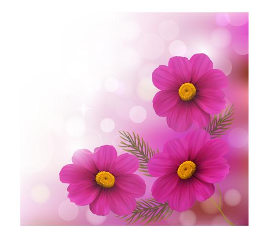 Cute Cartoon Flower Wallpaper Realistic Flower Design Background Art Vector 01 Free Download