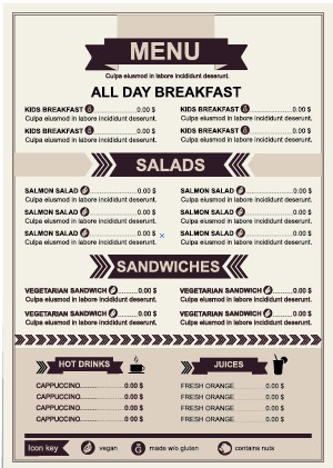 Restaurant menu price List template vector 02 free download - price list template