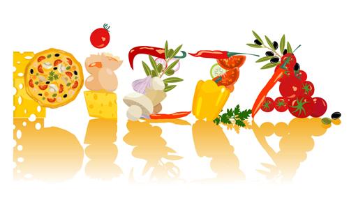 Creative pizza character design vector \u2013 Over millions vectors
