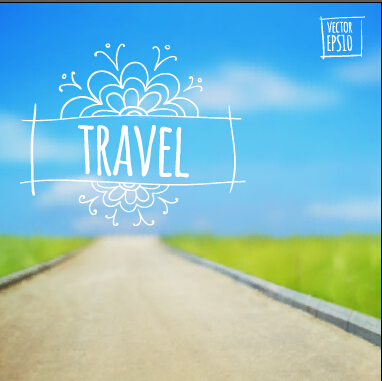 Blurred summer travel creative background 01 u2013 Over millions - summer powerpoint template