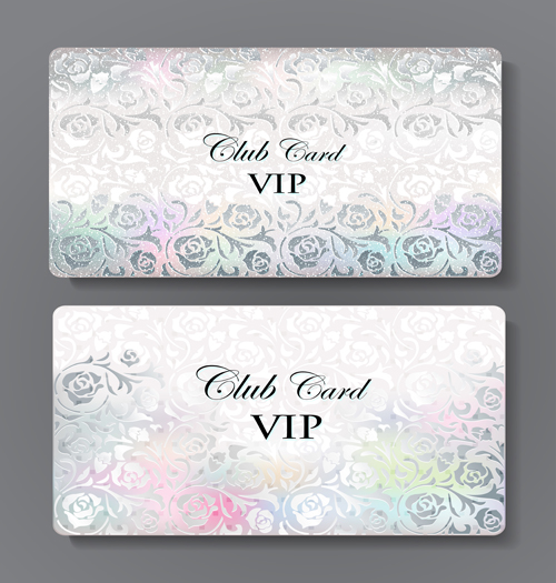 Luxury club cards design elements vector 04 free download - club card design