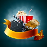 Movie time design elements vector backgrounds 04 free download