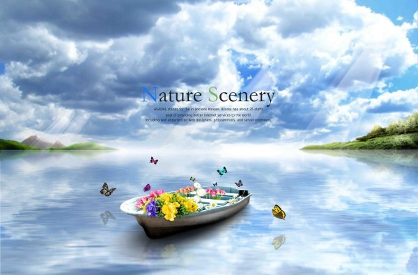 3d Emoticons Wallpapers Beautiful Nature Scenery With Butterflies Psd Background