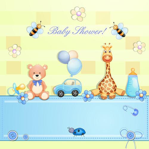 Wallpaper Graffiti Keren 3d Cute Toy With Baby Card Vector 02 Free Download