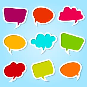 Cute Cartoon Flower Wallpaper Different Colored Speech Bubbles Vector Free Download
