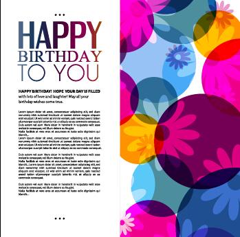 Template birthday greeting card vector material 06 - Vector - birthday card template