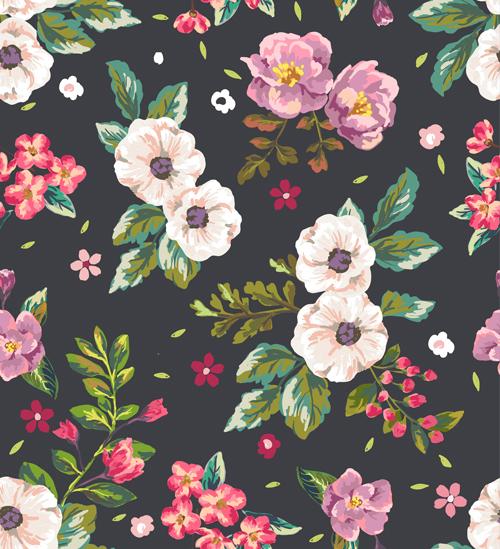 Car Fire Wallpaper Retro Flower Pattern Seamless Vector 02 Free Download