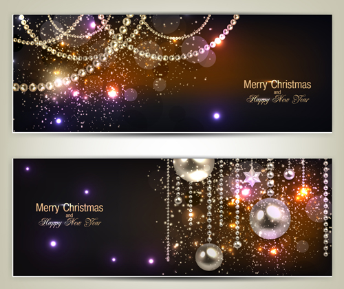 Happy New Year Hd Wallpaper 2014 Luxury Jewelry Christmas Banners Vector Set 02 Vector
