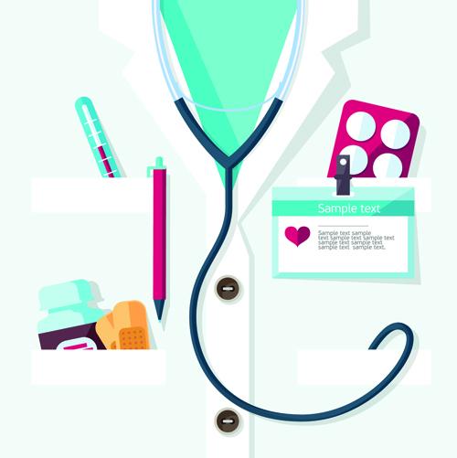 Creative design medical tool vector material 03 free download