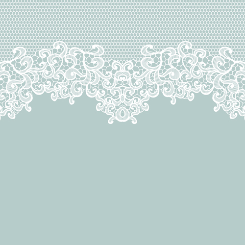 Emoticons Cute Wallpaper Elegant White Lace Vector Background 01 Vector