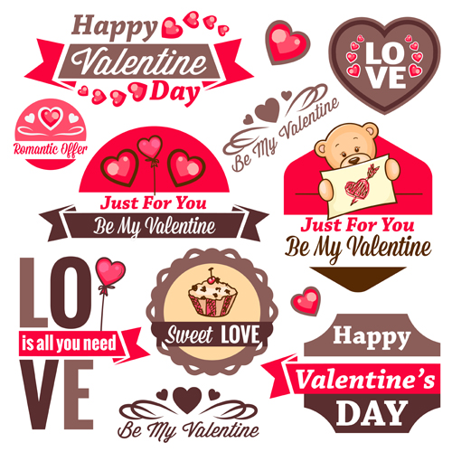 Valentines Day romantic labels free download