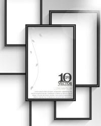 Creative photo frame vector background 01 - Vector ...