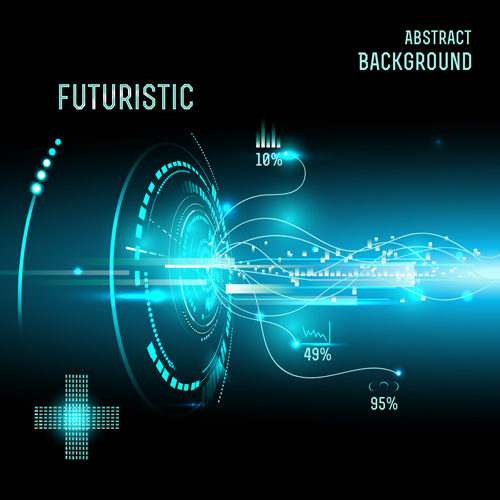 3d Wallpaper Futurist Futuristic Tech With Abstract Background Vector 07 Free