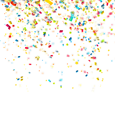 Colorful confetti holiday background vector 02 free download
