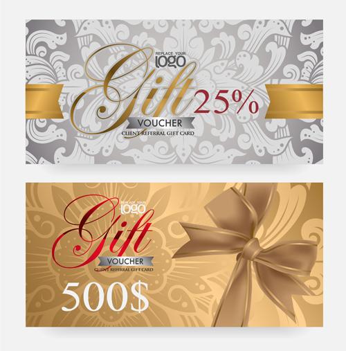 Vector set of gift voucher design elements 02 free download