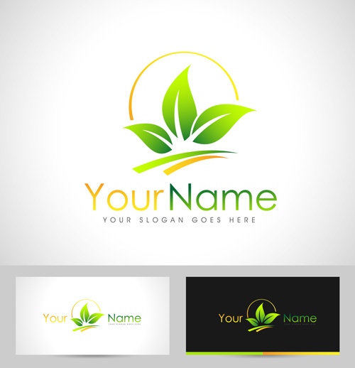 Original design logos with business cards vector 14 free download
