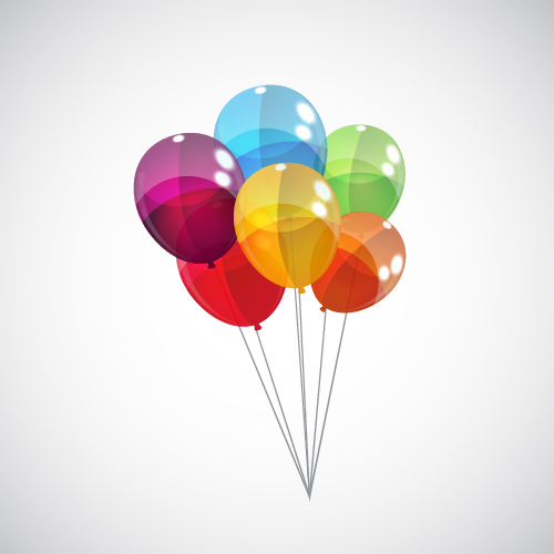 Free 3d Flower Wallpaper Transparent Colored Balloons Vector Background 06 Free