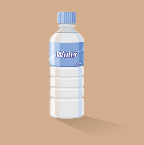 Vector water bottle template material 01 free download