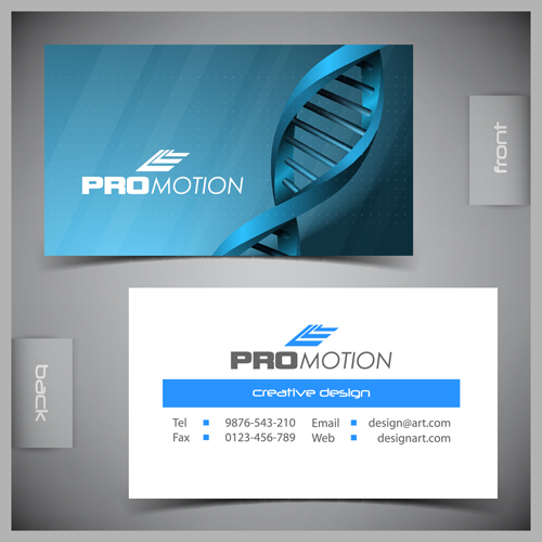 Modern business cards front and back template vector 02 free download