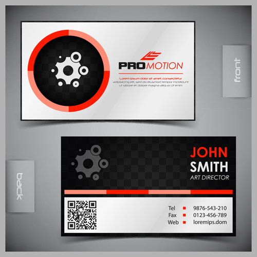 Modern business cards front and back template vector 04 free download