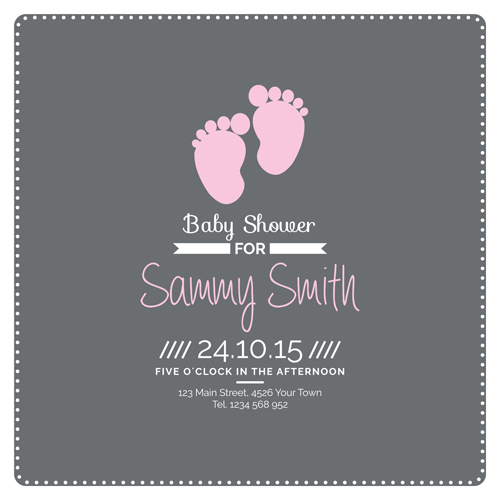 Retro baby shower cards 06 vector free download