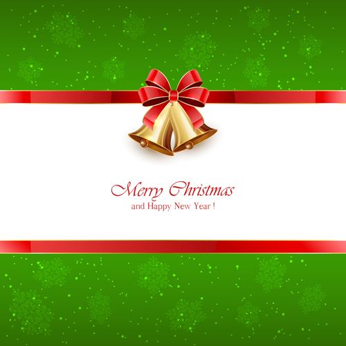 All Car Hd Wallpaper Download Green Christmas Background With Bells And Red Bow Vector