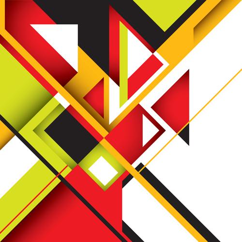 Wallpaper Graffiti Keren 3d Business Designed Abstract Shapes Template Vector 02