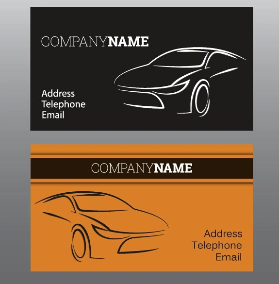 Business Card Template Car Vector Images - Card Design And Card Template