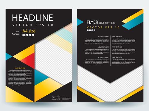 Flyer or brochure cover modern design vector 01 free download