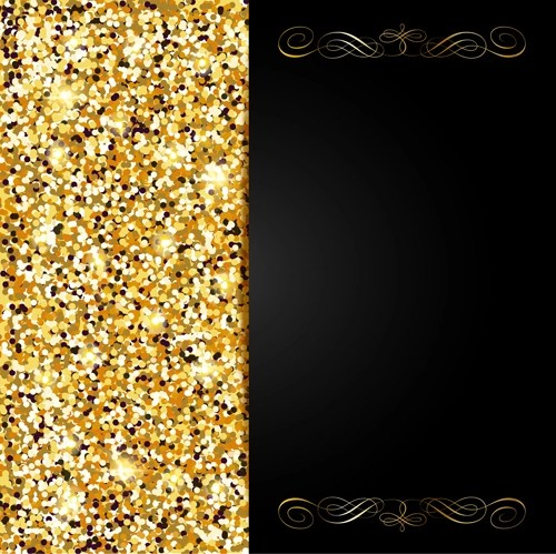 Golden with black VIP invitation card background vector 01 free download