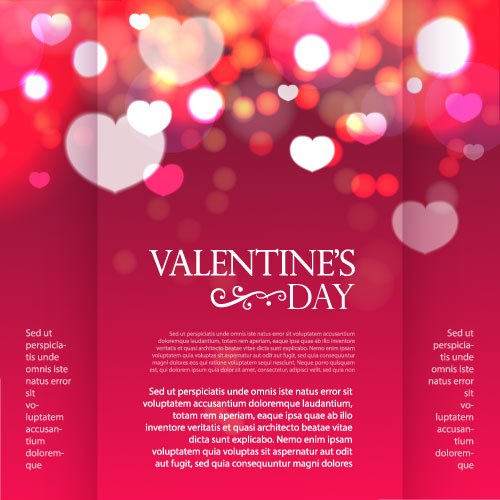 Valentines day flyer and brochure cover vector free download