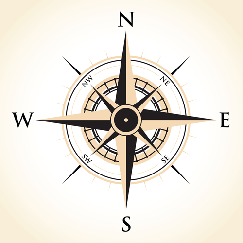 Vector compass background design material 05 free download