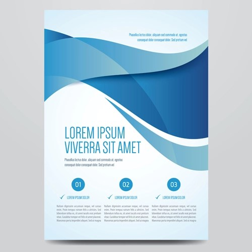 Blue style corporate brochure cover design vector 04 free download - design cover
