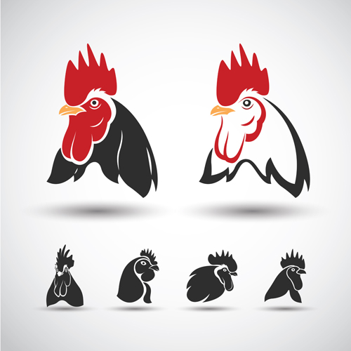 Black And White Vintage Car Wallpaper Creative Chicken Logos Vector Design 07 Free Download