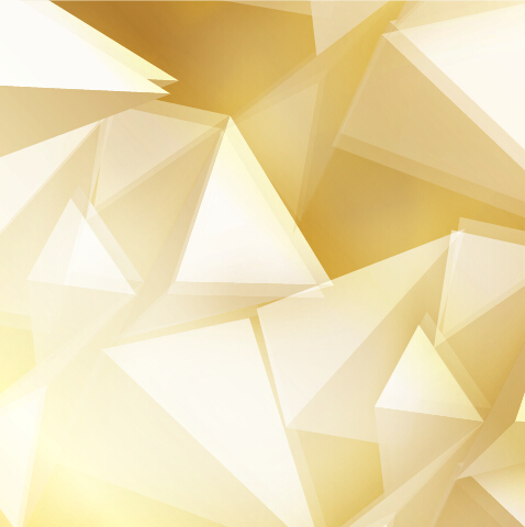 Cute 3d Flower Wallpaper Golden Triangle Abstract Background Vector 02 Vector