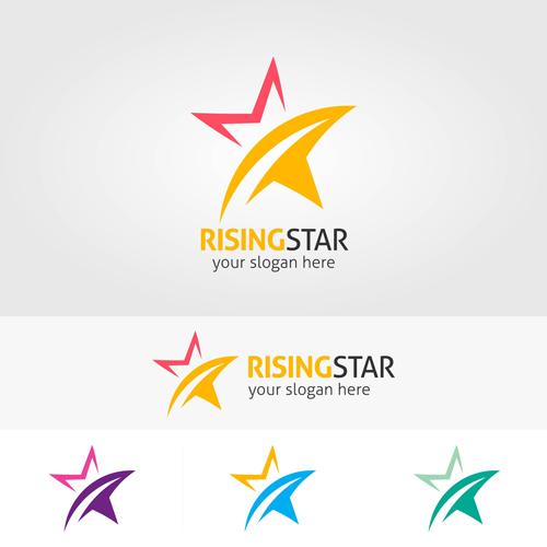Abstract star logos vector set 03 free download