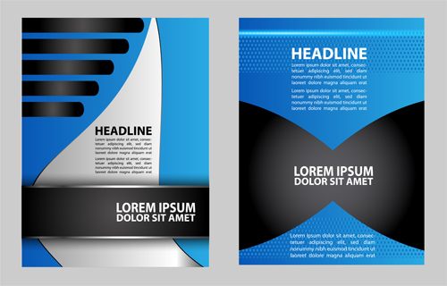 Blue flyer cover design graphics vector 07 free download