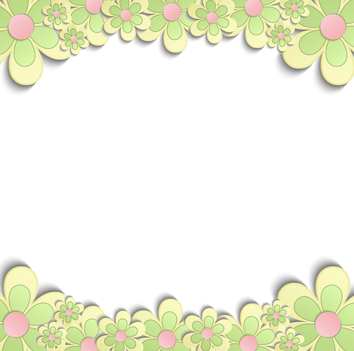 Cute paper flower with white background vector free download