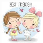 Cartoon Two Cute Girls