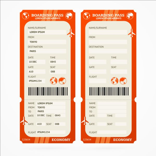 air ticket template download - Romeolandinez - plane ticket template