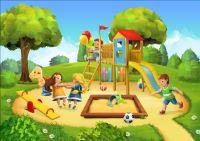 Children playground vector background design 03 free download