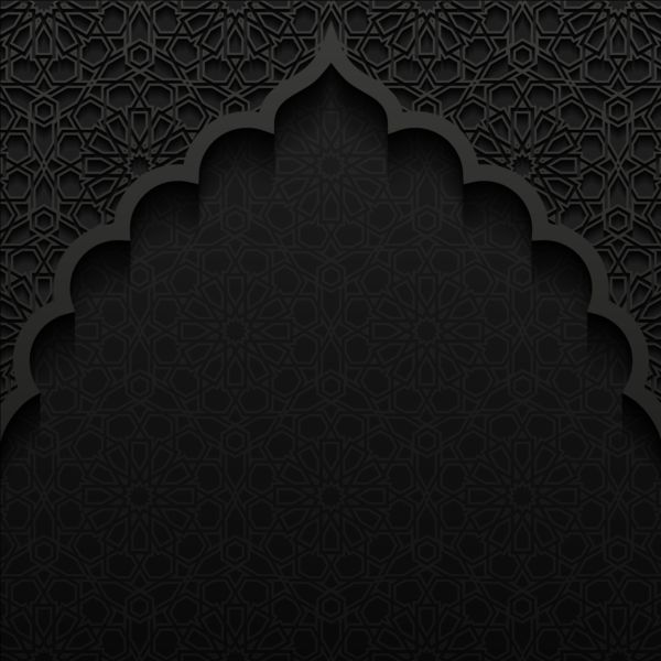 Swimming Wallpaper Quotes Islamic Mosque With Black Background Vector 03 Free Download