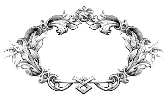 vector vintage border frame engraving with retro ornament  vector vintage border frame engraving