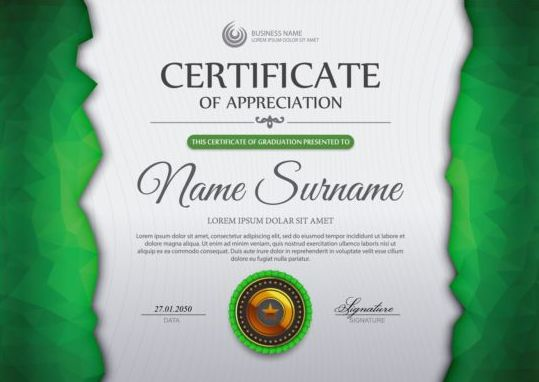 certificate template vector - for free download - certificate of appreciation templates free download