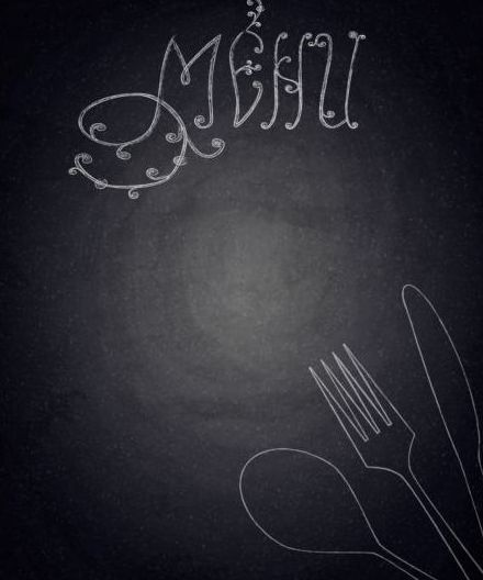 Restaurant menu with blackboard background vector 15 free download