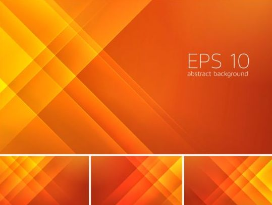 Ice Cream Girl Wallpaper Orange Stripes Abstract Background Vector Vector