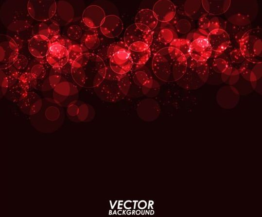 Red light circle with dark background vector free download